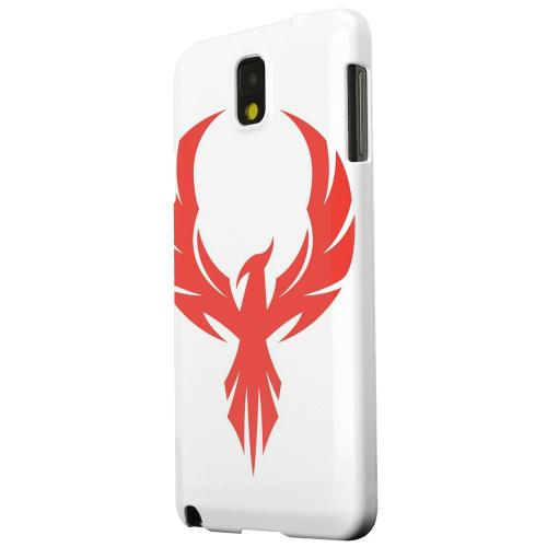 Geeks Designer Line (GDL) Samsung Galaxy Note 3 Matte Hard Back Cover - Phoenix Red on White