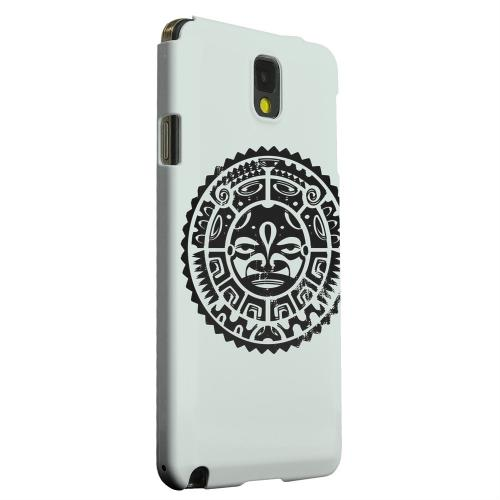 Geeks Designer Line (GDL) Samsung Galaxy Note 3 Matte Hard Back Cover - Polynesian Face on Gray