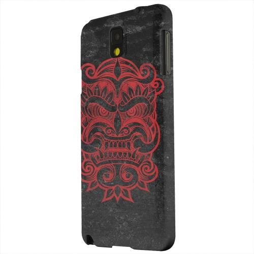 Geeks Designer Line (GDL) Samsung Galaxy Note 3 Matte Hard Back Cover - Red Devil Mask