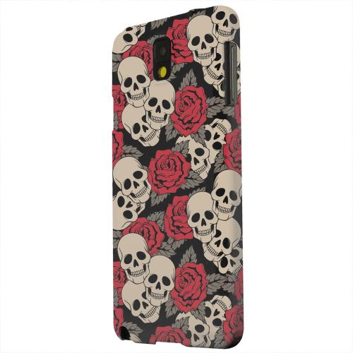 Geeks Designer Line (GDL) Samsung Galaxy Note 3 Matte Hard Back Cover - Rose Skulls