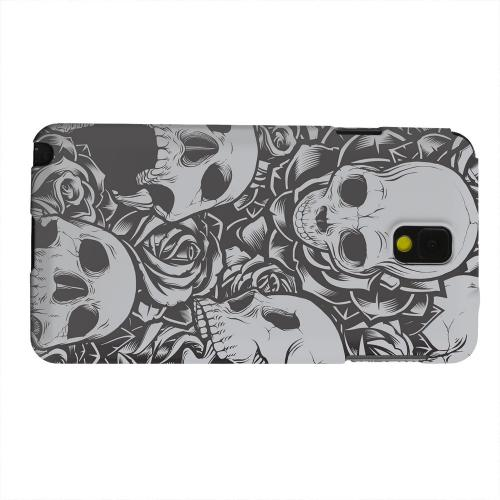Geeks Designer Line (GDL) Samsung Galaxy Note 3 Matte Hard Back Cover - Skulls Rose Gray