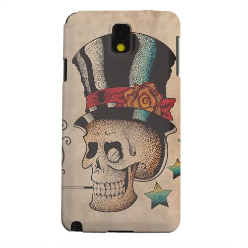 Geeks Designer Line (GDL) Samsung Galaxy Note 3 Matte Hard Back Cover - Smoking Skull
