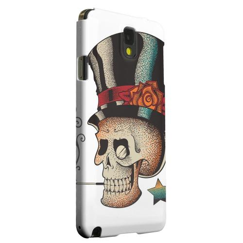 Geeks Designer Line (GDL) Samsung Galaxy Note 3 Matte Hard Back Cover - Smoking Skull on White