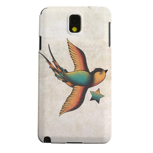 Geeks Designer Line (GDL) Samsung Galaxy Note 3 Matte Hard Back Cover - Swallow Star