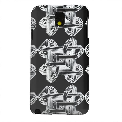 Geeks Designer Line (GDL) Samsung Galaxy Note 3 Matte Hard Back Cover - Tribal Art Pattern on Black
