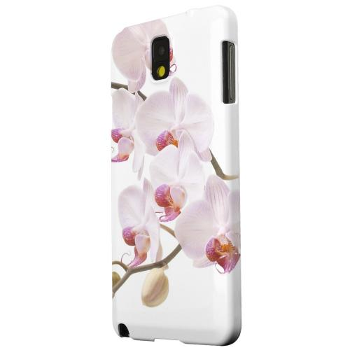 Geeks Designer Line (GDL) Samsung Galaxy Note 3 Matte Hard Back Cover - White Pink Orchid