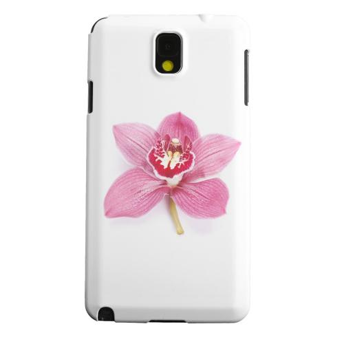 Geeks Designer Line (GDL) Samsung Galaxy Note 3 Matte Hard Back Cover - Single Pink Orchid Flower