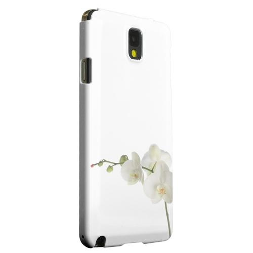 Geeks Designer Line (GDL) Samsung Galaxy Note 3 Matte Hard Back Cover - Simple White Orchid