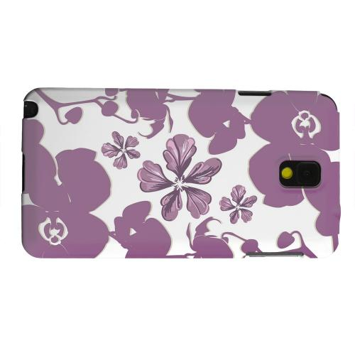 Geeks Designer Line (GDL) Samsung Galaxy Note 3 Matte Hard Back Cover - Purple Orchids