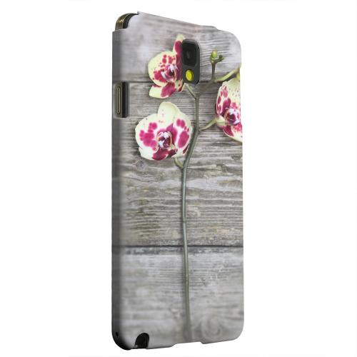 Geeks Designer Line (GDL) Samsung Galaxy Note 3 Matte Hard Back Cover - Orchid on Wood