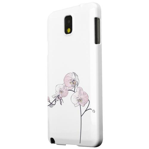 Geeks Designer Line (GDL) Samsung Galaxy Note 3 Matte Hard Back Cover - Lonely Orchid