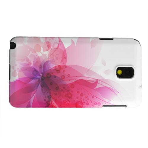 Geeks Designer Line (GDL) Samsung Galaxy Note 3 Matte Hard Back Cover - Hot Pink Orchid Swoosh Fade