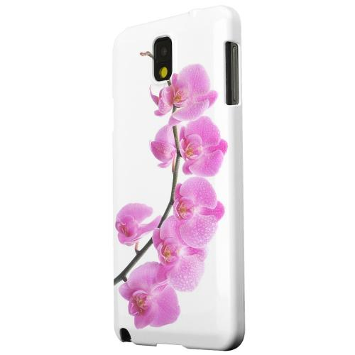 Geeks Designer Line (GDL) Samsung Galaxy Note 3 Matte Hard Back Cover - Hot Pink Orchid Curved Branch