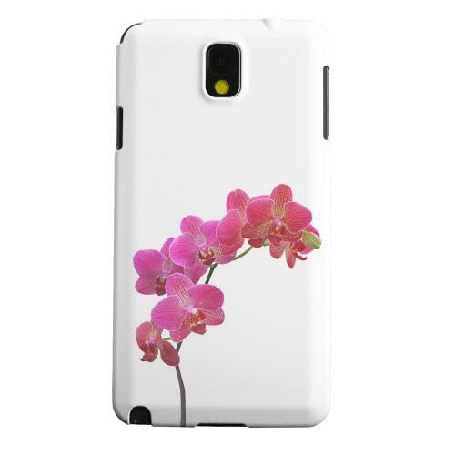 Geeks Designer Line (GDL) Samsung Galaxy Note 3 Matte Hard Back Cover - Hot Pink Orchid Branch