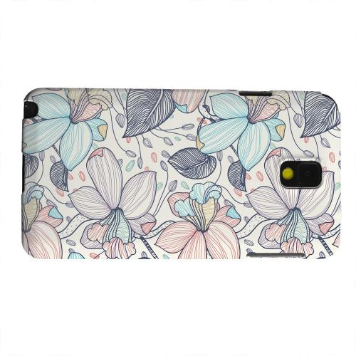 Geeks Designer Line (GDL) Samsung Galaxy Note 3 Matte Hard Back Cover - Colorful Orchid Lines