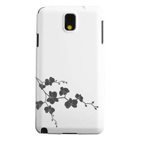 Geeks Designer Line (GDL) Samsung Galaxy Note 3 Matte Hard Back Cover - Clean Solid Black Orchid Art
