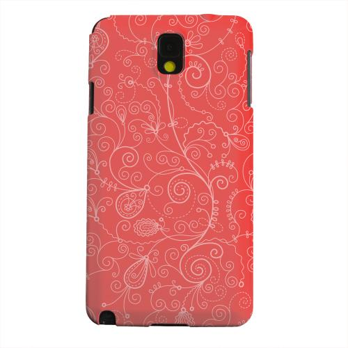 Geeks Designer Line (GDL) Samsung Galaxy Note 3 Matte Hard Back Cover - Floral 1 Poppy Red