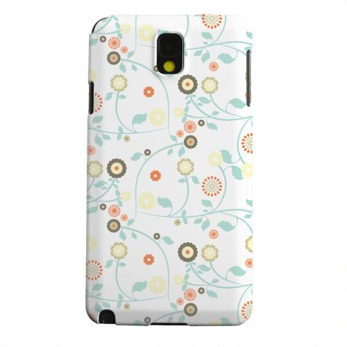 Geeks Designer Line (GDL) Samsung Galaxy Note 3 Matte Hard Back Cover - Floral 2 Multi-colored