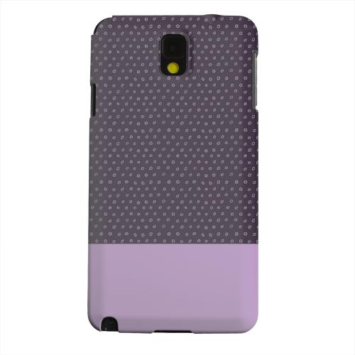 Geeks Designer Line (GDL) Samsung Galaxy Note 3 Matte Hard Back Cover - Little Circle Dots African Violet
