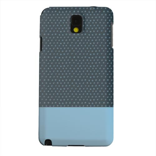 Geeks Designer Line (GDL) Samsung Galaxy Note 3 Matte Hard Back Cover - Little Circle Dots Dusk Blue