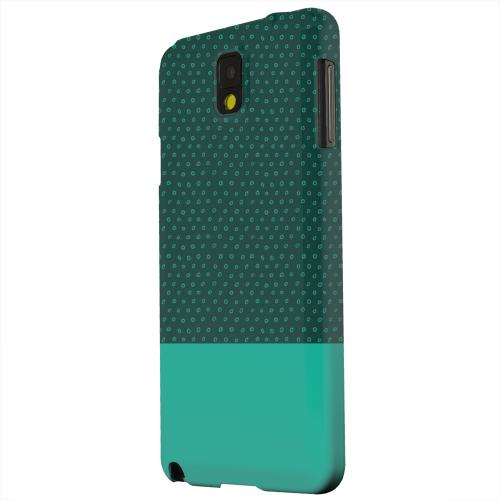 Geeks Designer Line (GDL) Samsung Galaxy Note 3 Matte Hard Back Cover - Little Circle Dots Emerald