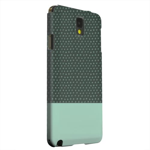 Geeks Designer Line (GDL) Samsung Galaxy Note 3 Matte Hard Back Cover - Little Circle Dots Grayed Jade