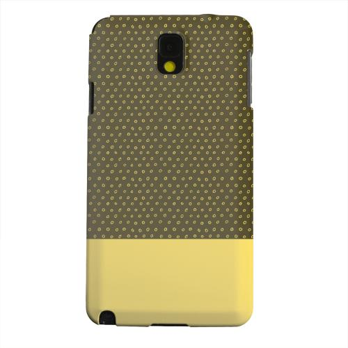 Geeks Designer Line (GDL) Samsung Galaxy Note 3 Matte Hard Back Cover - Little Circle Dots Lemon Zest