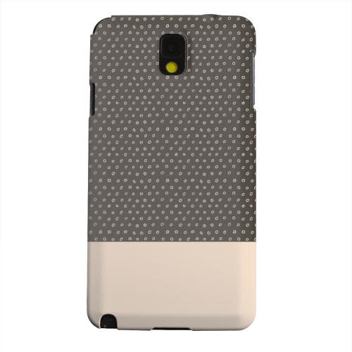 Geeks Designer Line (GDL) Samsung Galaxy Note 3 Matte Hard Back Cover - Little Circle Dots Linen