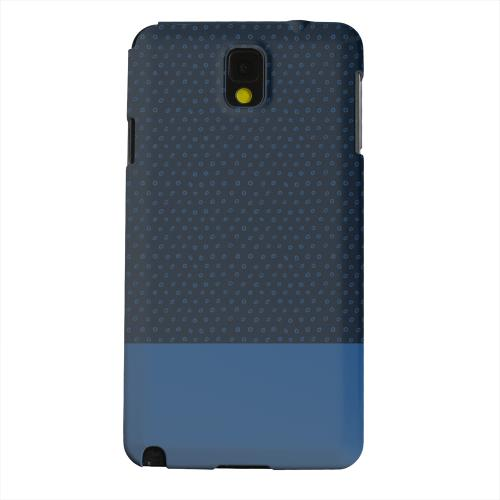 Geeks Designer Line (GDL) Samsung Galaxy Note 3 Matte Hard Back Cover - Little Circle Dots Monaco Blue