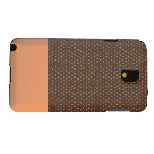 Geeks Designer Line (GDL) Samsung Galaxy Note 3 Matte Hard Back Cover - Little Circle Dots Nectarine
