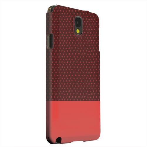 Geeks Designer Line (GDL) Samsung Galaxy Note 3 Matte Hard Back Cover - Little Circle Dots Poppy Red