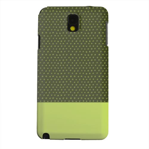 Geeks Designer Line (GDL) Samsung Galaxy Note 3 Matte Hard Back Cover - Little Circle Dots Tender Shoots