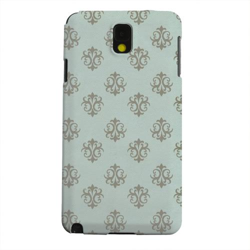 Geeks Designer Line (GDL) Samsung Galaxy Note 3 Matte Hard Back Cover - Ornamental Dusk Blue