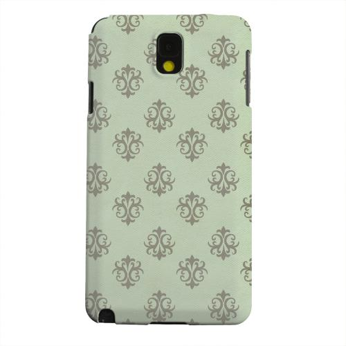 Geeks Designer Line (GDL) Samsung Galaxy Note 3 Matte Hard Back Cover - Ornamental Grayed Jade