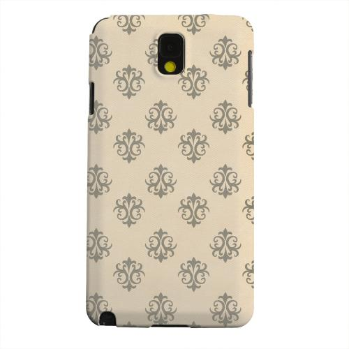 Geeks Designer Line (GDL) Samsung Galaxy Note 3 Matte Hard Back Cover - Ornamental Linen
