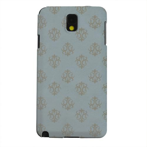 Geeks Designer Line (GDL) Samsung Galaxy Note 3 Matte Hard Back Cover - Ornamental Monaco Blue