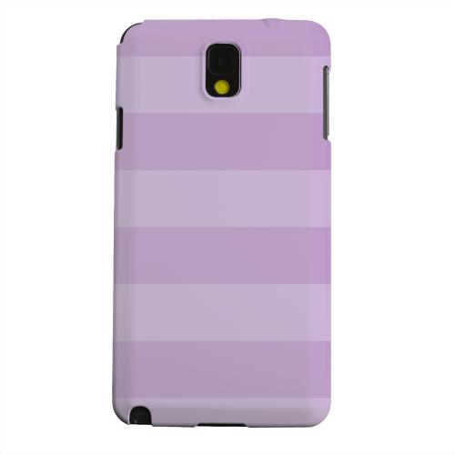 Geeks Designer Line (GDL) Samsung Galaxy Note 3 Matte Hard Back Cover - Stripes African Violet