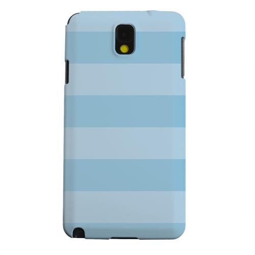 Geeks Designer Line (GDL) Samsung Galaxy Note 3 Matte Hard Back Cover - Stripes Dusk Blue