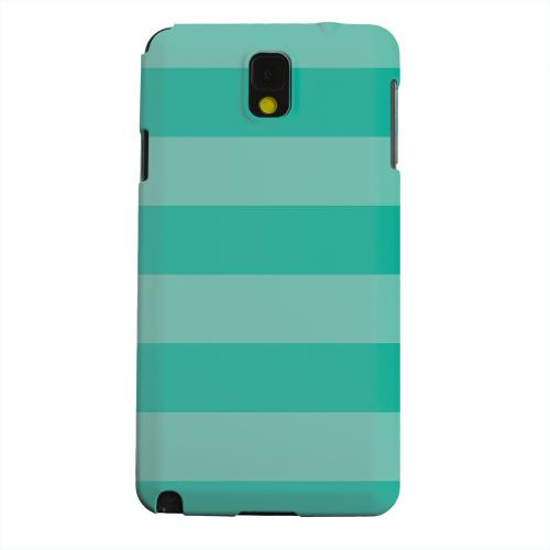 Geeks Designer Line (GDL) Samsung Galaxy Note 3 Matte Hard Back Cover - Stripes Emerald