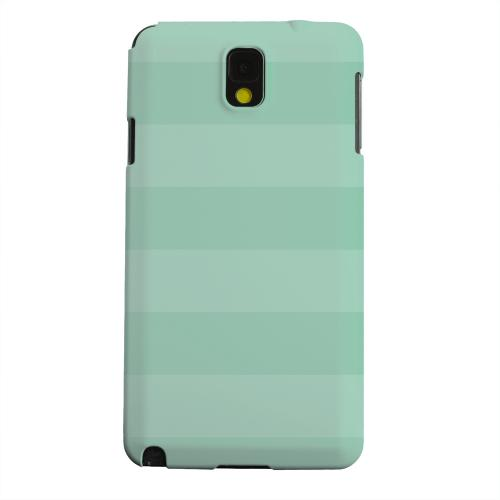 Geeks Designer Line (GDL) Samsung Galaxy Note 3 Matte Hard Back Cover - Stripes Grayed Jade