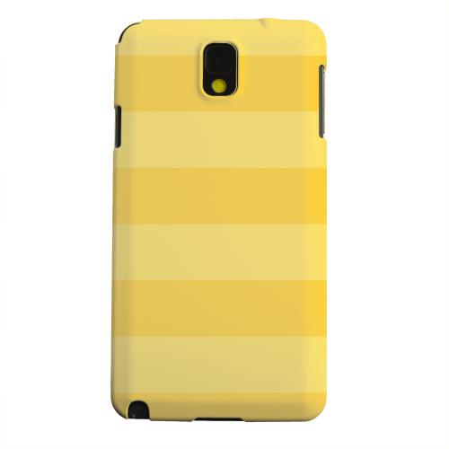 Geeks Designer Line (GDL) Samsung Galaxy Note 3 Matte Hard Back Cover - Stripes Lemon Zest