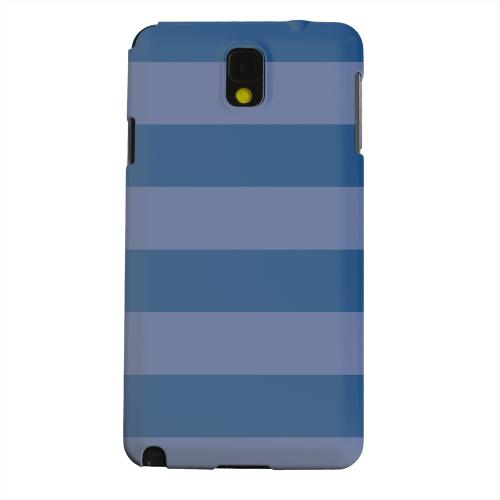 Geeks Designer Line (GDL) Samsung Galaxy Note 3 Matte Hard Back Cover - Stripes Monaco Blue