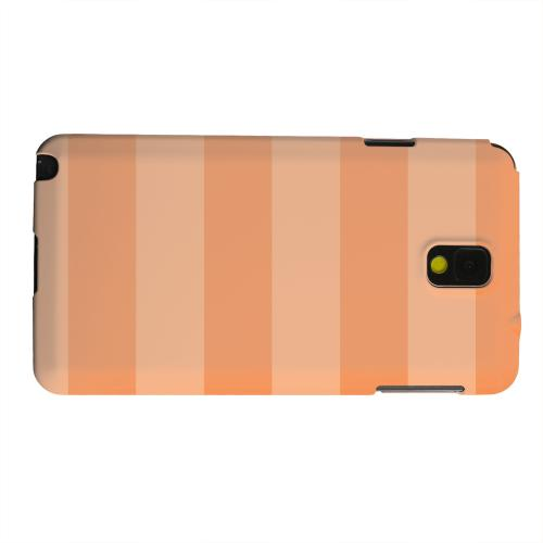 Geeks Designer Line (GDL) Samsung Galaxy Note 3 Matte Hard Back Cover - Stripes Nectarine