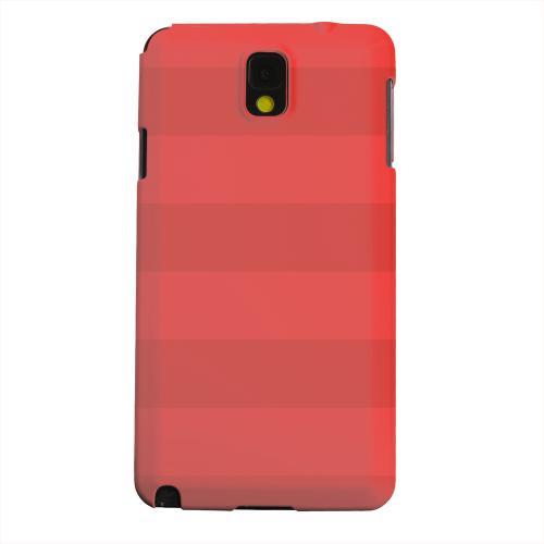 Geeks Designer Line (GDL) Samsung Galaxy Note 3 Matte Hard Back Cover - Stripes Poppy Red