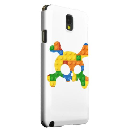 Geeks Designer Line (GDL) Samsung Galaxy Note 3 Matte Hard Back Cover - Blocks Crossbones