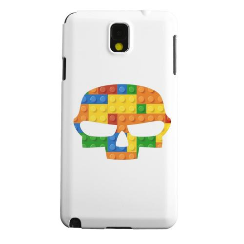 Geeks Designer Line (GDL) Samsung Galaxy Note 3 Matte Hard Back Cover - Blocks Fatskull