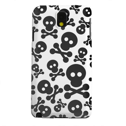 Geeks Designer Line (GDL) Samsung Galaxy Note 3 Matte Hard Back Cover - Skull Face Invasion Black on White