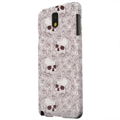 Geeks Designer Line (GDL) Samsung Galaxy Note 3 Matte Hard Back Cover - Thorn Skull Red Halftone
