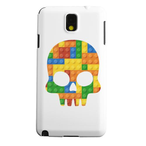 Geeks Designer Line (GDL) Samsung Galaxy Note 3 Matte Hard Back Cover - Blocks Skull