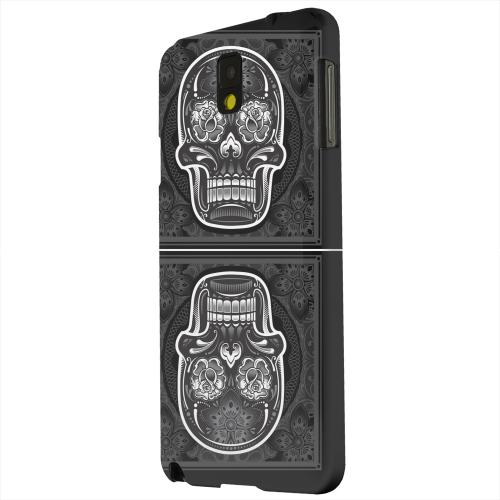 Geeks Designer Line (GDL) Samsung Galaxy Note 3 Matte Hard Back Cover - Domino Double Skull